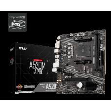 MSI A520M-A PRO AMD Ryzen DDR4 M-ATX