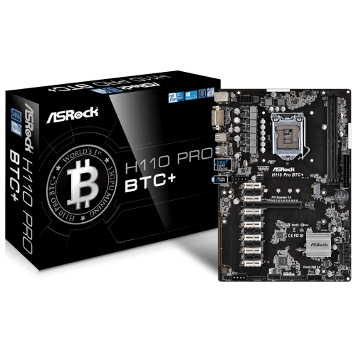 ASRock H110 Pro BTC+ 13GPU Mining Motherboard