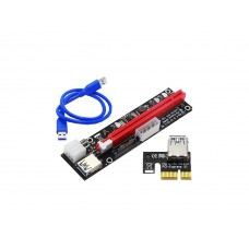 PCIe Riser Cable / Card Riser Adapter - PCI Express 1X to 16X Extender With 60cm USB 3.0 Cable