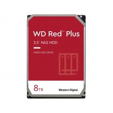 WD Red Plus 8TB NAS Hard Disk Drive - 5400 RPM, SATA 6Gb/s, 256MB Cache, 3.5 Inch